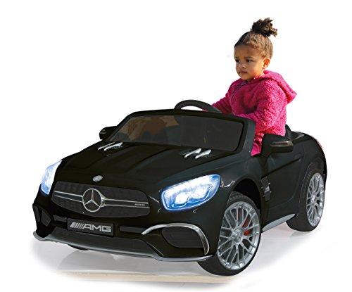 RC Kinderauto kaufen Kinderauto Bild 1: Jamara 460295 Ride-on Mercedes SL65 schwarz 12V-Softanlauf, 2-Gang, Stoßdämpfer, SD-Slot, AUX-und USB-Anschluss, LED, Hupe,bis zu 90 Min. Fahrzeit,Ultra-Gripp Gummiring*