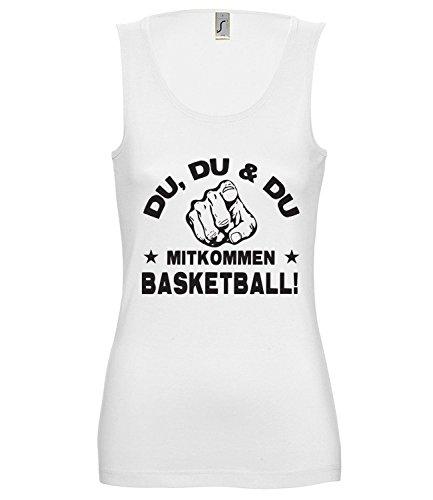 Artdiktat Damen Tank Top – Du, Du und Du – Mitkommen – Basketball – Funshirt Humor Fun Spaß Kult Spruch Sport