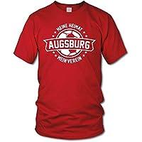 shirtloge - AUGSBURG - Meine Heimat, mein Verein - Fan T-Shirt - verschiedene Farben - Größe S - 3XL