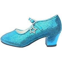 La Señorita Zapato Elsa Frozen Flamenco Sevillanas niña o mujer azul