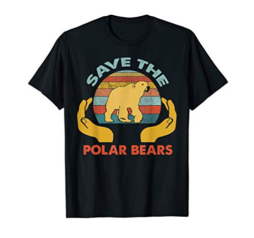 Vintage Rescue Polar Bears-Save The Polar Bears T-Shirt
