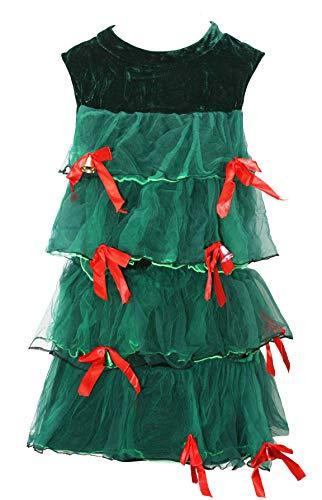 Bslingerie Weihnachtsbaum Grün Tutu Kleid Kostüm Set (Grün, M)