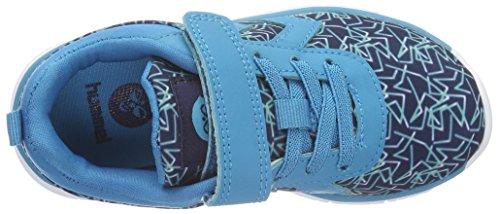 Hummel Crosslite Print Sneaker JR, Chaussures de Fitness Garçon Bleu (Algiers Blue)