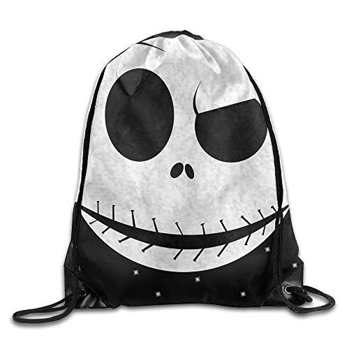 druckte Sportbeutel, Premium Drawstring Gym Bag, Jack Skellington Logo Drawstring Backpack Sport Bag for Men/Women ()