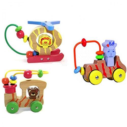 BELUGA Lugis Motorik Schleifen Malou Kala Kosmo Giraffe Bär Löwe Holz Spielzeug Baby NEU, Motiv:Malou