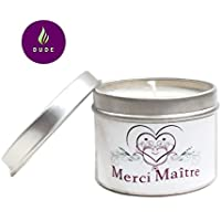 Bougie Parfumée au Choix Merci Maître Bougie Naturelle Cadeaux Maître Merci Cadeaux Anniversaire Cadeaux Personnalisés