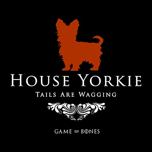 House Yorkie Tails Are Wagging Game Of Bones Women's Vest Black