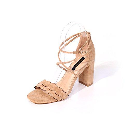 i tacchi di moda i tacchi cross. scarpe suede shoes con comodo, signore, i tacchi alti 40