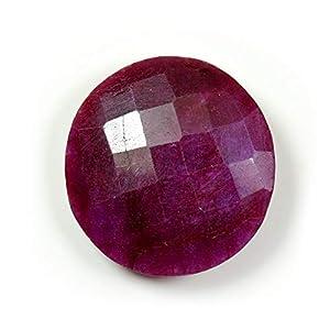 55 Karat Rubin natürlicher Loser Edelstein 21 Karat rund Form Stein Großhandel Rate Checker Schliff für die Schmuckherstellung