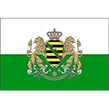 U24 Tischflagge Sachsen Flagge Fahne Tischfahne 10 x 15 cm
