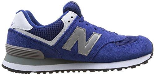 New Balance Ml574 D, Baskets mode homme Bleu (Sgb Blue/Silver)
