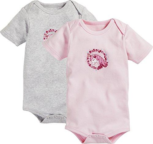 Schnizler Baby-Mädchen Formender Body Kurzarm, 2er Pack Einhorn, Oeko-Tex Standard 100, Mehrfarbig...
