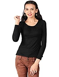 Remanika Black color Knitted Top for womens