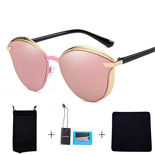 DAIYSNAFDN Cat Eye polarisierte Sonnenbrille Frauen Vintage Designer Cat Eye Damen Sonnenbrille N0.1