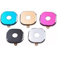 lente protector - SODIAL(R)5 PCS(Rose,negro,azul,dorado,plata) metal trasera camara lente protector anillo protector Funda lente para Samsung Galaxy S6/Samsung Galaxy S6 Edge