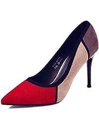 f7e9fcf70843b9 SANDALEN Wunderschöne Rote High Heels - Frauen Sexy Spitzen Bankett Retro  Schuhe Shallow Mund Hochzeit Schuhe Kleid Stiletto Heels (Farbe…