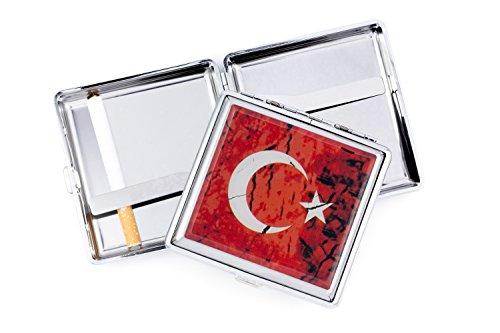 Gök-Türk Zigarettenetui Zigaretten Kasten - Halbmond Ay Yildiz Türkische Flagge Türkei Rot