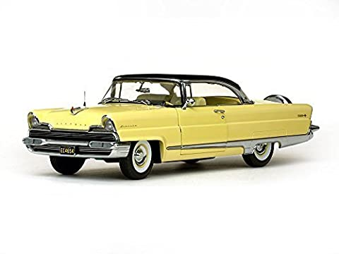 1956 Lincoln Premiere Hard Top Sunburst Yellow and Presidential Black Platinum Edition 1/18 by SunStar 4654 by Sunstar