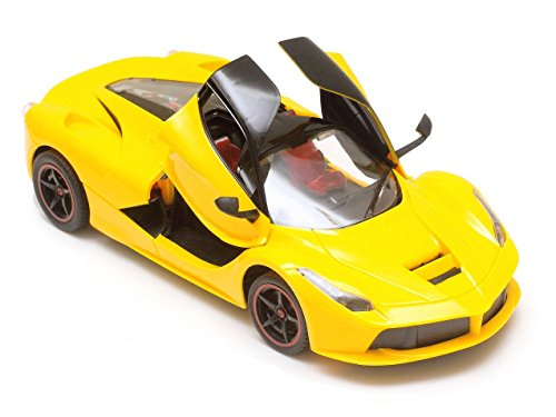 Flipzon Remote Controlled Ferrari Style Car 1:16 With Door Open/Close (Yellow)  available at amazon for Rs.598