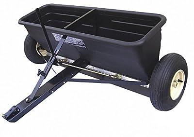 Streuwagen 80 kg Turfmaster Premium | Multifunktioneller Universalstreuer für Saatgut, Dünger und Streusalz | Zentrifugalstreuer mit 80 kg Fassungsvermögen und 100 cm Streubreite