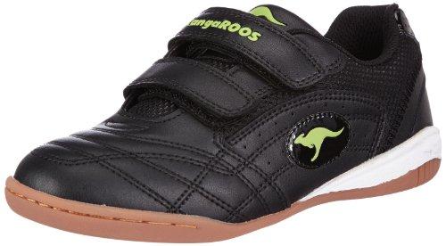 Kangaroos Backyard, Chaussures de sports en salle garçon Noir (Black/Lime 580)