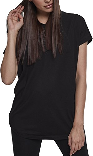 Urban Classics Damen Ladies Sleeveless Jersey Hoody T-Shirt, Black, L -