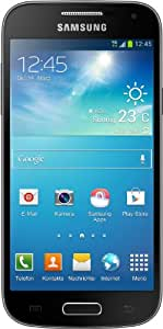 Samsung Galaxy S4 mini Smartphone (4,3 Zoll (10,9 cm) Touch-Display, 8 GB Speicher, Android 4.2) tief-schwarz mit Leder-Cover