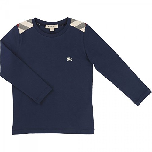 BURBERRY - T-shirt manches longues bleu - 6 anni, Blu Scuro