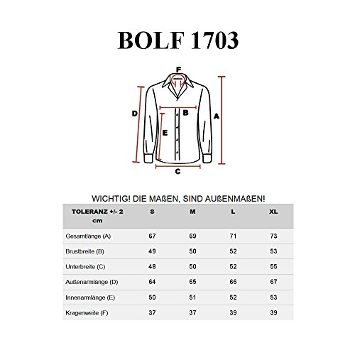 BOLF Langarm Herrenhemd Figurbetont Freizeit Slim Fit Freizethemd 2B2 Motiv Grün