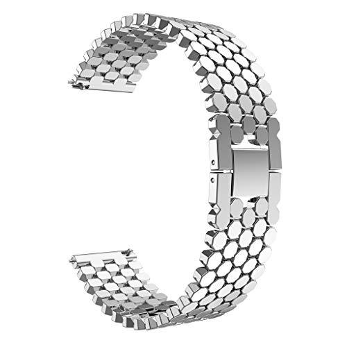 Preisvergleich Produktbild bingT 22mm Uhrenarmband Edelstahl,  Huawei Watch GT Metall Ersatzband,  Luxux Ersatzarmband,  Ersatz Zubehör Einzigartiger Uhrenarmband für Huawei Watch GT Smart Watch (Silber)