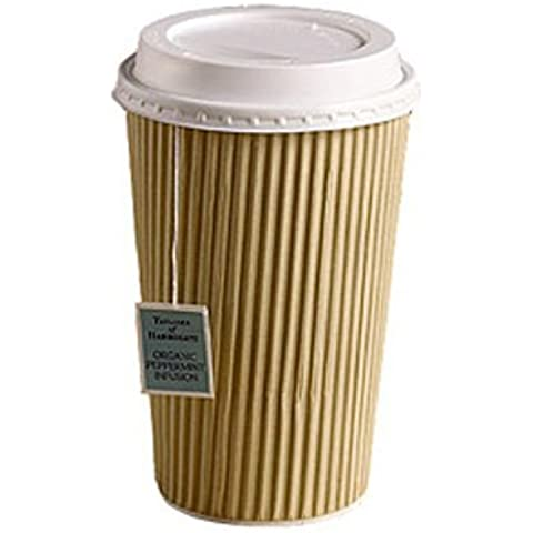 50x Kraft 12Ounce Ripple a 3strati monouso bicchieri di carta termica per tè caffè cappuccino bevande calde, Confezione da 1
