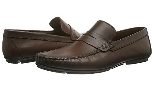 CAPRIUM Herren Leder Mokassins Slipper Loafer, Premium Qualität Dunkelbraun