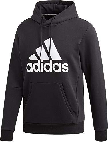 adidas Herren Must Haves Badge of Sport Fleece Hooded Sweatshirt, schwarz/weiß, XXL -