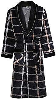 Winter Kimono Robe Gowm Sleepwear Men Nightdress Homewear Flannel Warm Nightwear Nightgown Casual Full Bathrob