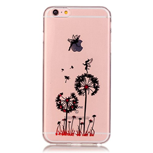 iPhone 6s Hülle,iPhone 6 TPU Hülle,Fodlon® Ultra dünn Tropfenschutz / Shock-Absorption mit Anti-Scratch Silikon-TPU-Fall-Abdeckung für iPhone 6 6s-Pflaumeblume Löwenzahn