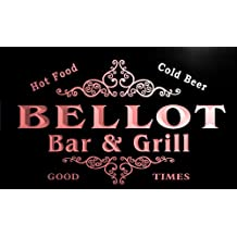 u03109-r BELLOT Family Name Bar & Grill Cold Beer Neon Light Sign Enseigne Lumineuse