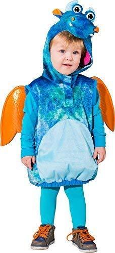Kleinkind Mädchen Jungen Süß Blau Drachen Monster mit Flügeln Halloween Party Kostüm Kleid Outfit