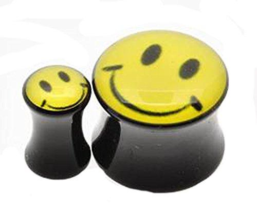 flesh-ear-plug-tunnel-smiley-acid-face-flared-acrylic-plug-in-sizes-5mm-12mm