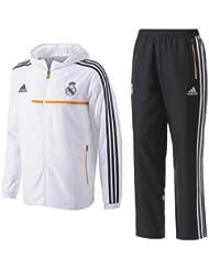 Adidas Real Pres Suit Survêtement de football pour homme Blanc/Orange