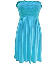 FASHION BOUTIQUE - Robe Bandeau Modèle Femme 36-48 - MED/LRG (40-42), Turquoise