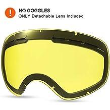 9dcc174193 HAUEA Lente de reemplazo para Gafas de esquí (Amarilla)