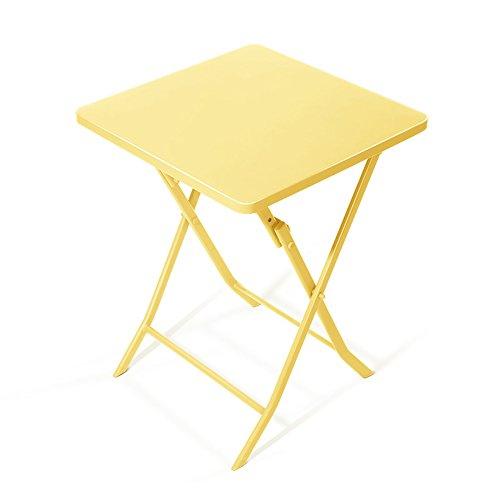 Klapptisch / Kleine Quadratische Tabelle / Eisen Kunst Rost Klapptisch / Computer Schreibtisch / Dekoration Tisch / 55 * 55 * 71 CM ( Farbe...