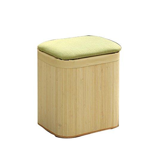 Stool Health UK Hocker Bambus Rattan Eingangshalle Schuh Hocker Sofa Sitz Kind Spielzeug Aufbewahrungsbox Fußstütze Sofa Hocker Welcome (Farbe : B)