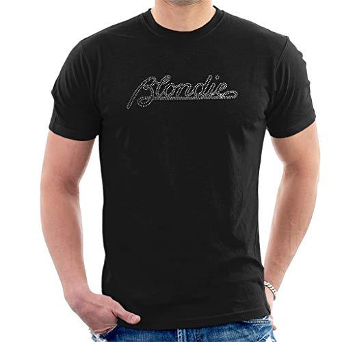 Blondie Diamant Logo Kurzarm Herren T-Shirt Schwarz Medium - Diamant-logo-t-shirt