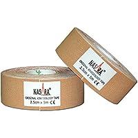Nasara Original Kinesiology Tape, 2 Rollen, 2.5 cm x 5 m, beige preisvergleich bei billige-tabletten.eu