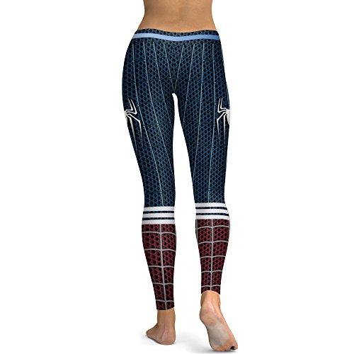 Leezeshaw - Leggings sportivi -  donna Spider-Man
