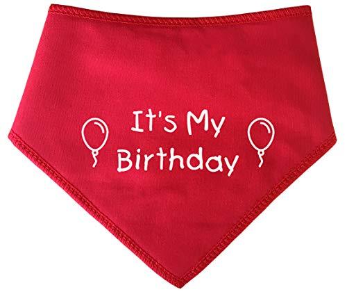 Spoilt Rotten Pets -Rotes Geburtstags-Halstuch für Hunde - mit der Aufschrift: