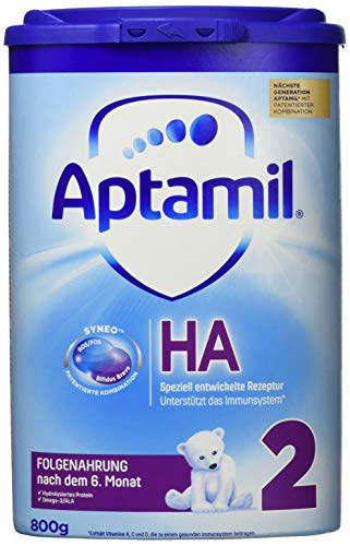 Aptamil HA 2 mit SYNEO Folgenahrung nach dem 6. Monat, 1er Pack (1 x 800 g)