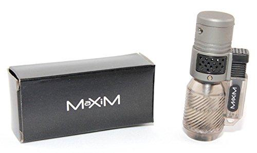 Sturmfeuerzeug Feuerzeug Mini Bunsenbrenner Gas Brenner Flambierer mit 3 Sturmflammen Braun [Versand durch Konsumany®]