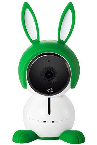 Arlo Baby ABC1000-100EUS - Cámara de seguridad HD 1080p (con carcasa de conejito, visión nocturna, alertas de movimiento y sonidos, sensor de aire, batería recargable)
